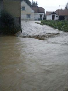 Záplavy - Malinec 2012